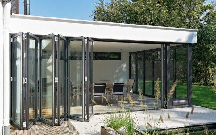 Veranda met vouwdeuren project pinterest tuin met and verandas - Veranda modern huis ...