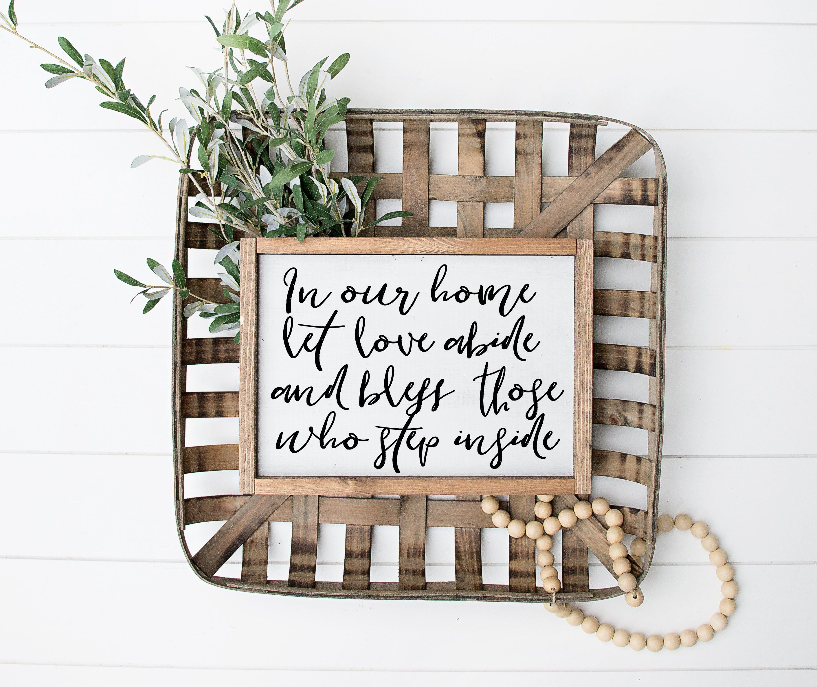 In Our Home Let Love Abide And Bless Printable Print Sign Home