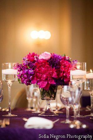 Red And Purple Wedding Table Settings Purple Wedding Purple