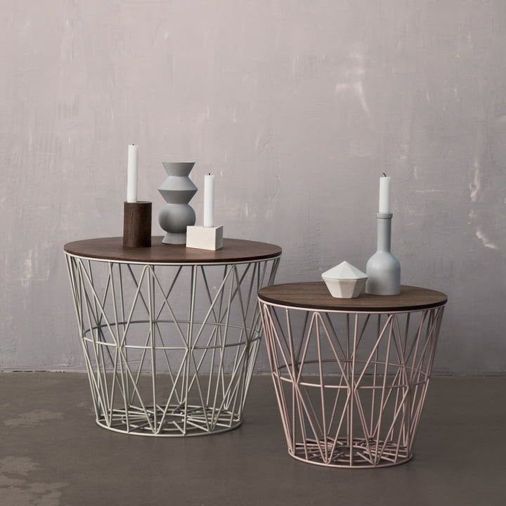 ferm living Wire Basket medium im Shop | Drahtkorb, Tisch und ...