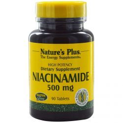 Nature's Plus, Niacinamide, 500 Mg, 90 Tablets, Diet Suplements 蛇