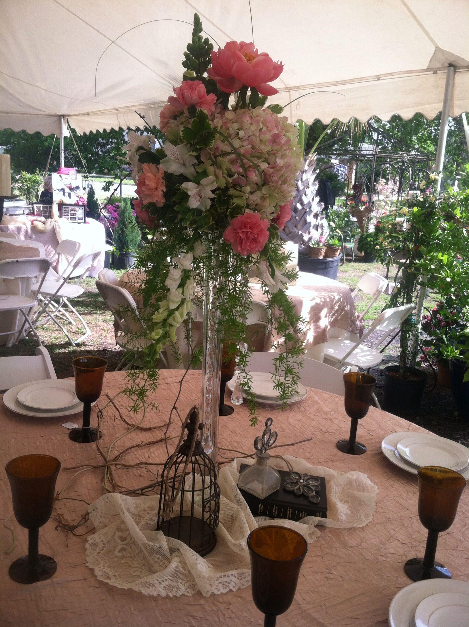 Tall centerpiece eiffel tower vase wedding ideas