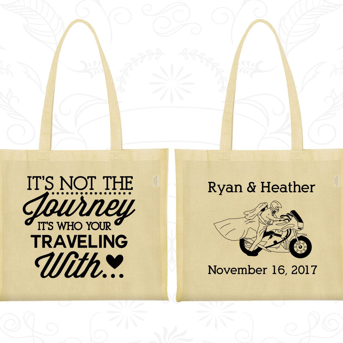 Wedding Welcome Bags, Tote Bags, Wedding Tote Bags, Personalized ...