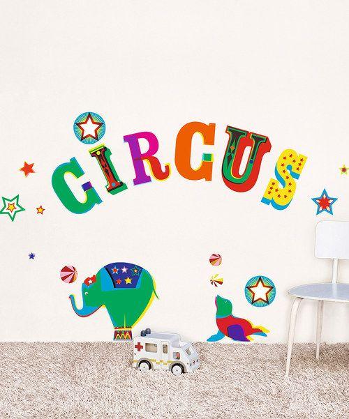 Circus Wall Decal | Jbug room | Pinterest | Wall decals ...