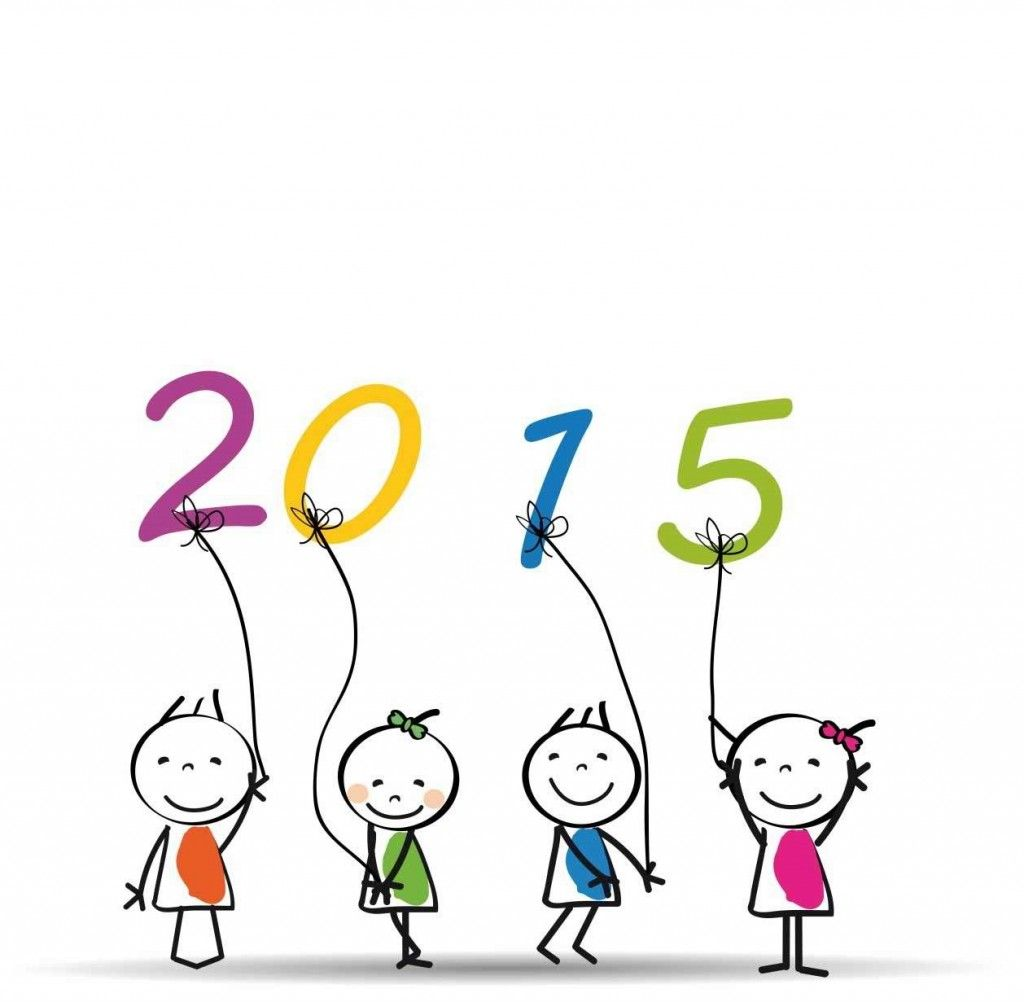 Happy New Year 2015 With Funny Cartoon Kids Funny New Year