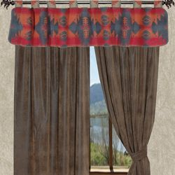 Southwest Like The Top Valance But With Wide White Blinds I Really Like This One I Am Looking Southwestern Home Decor Striped Curtains Rustic Curtains