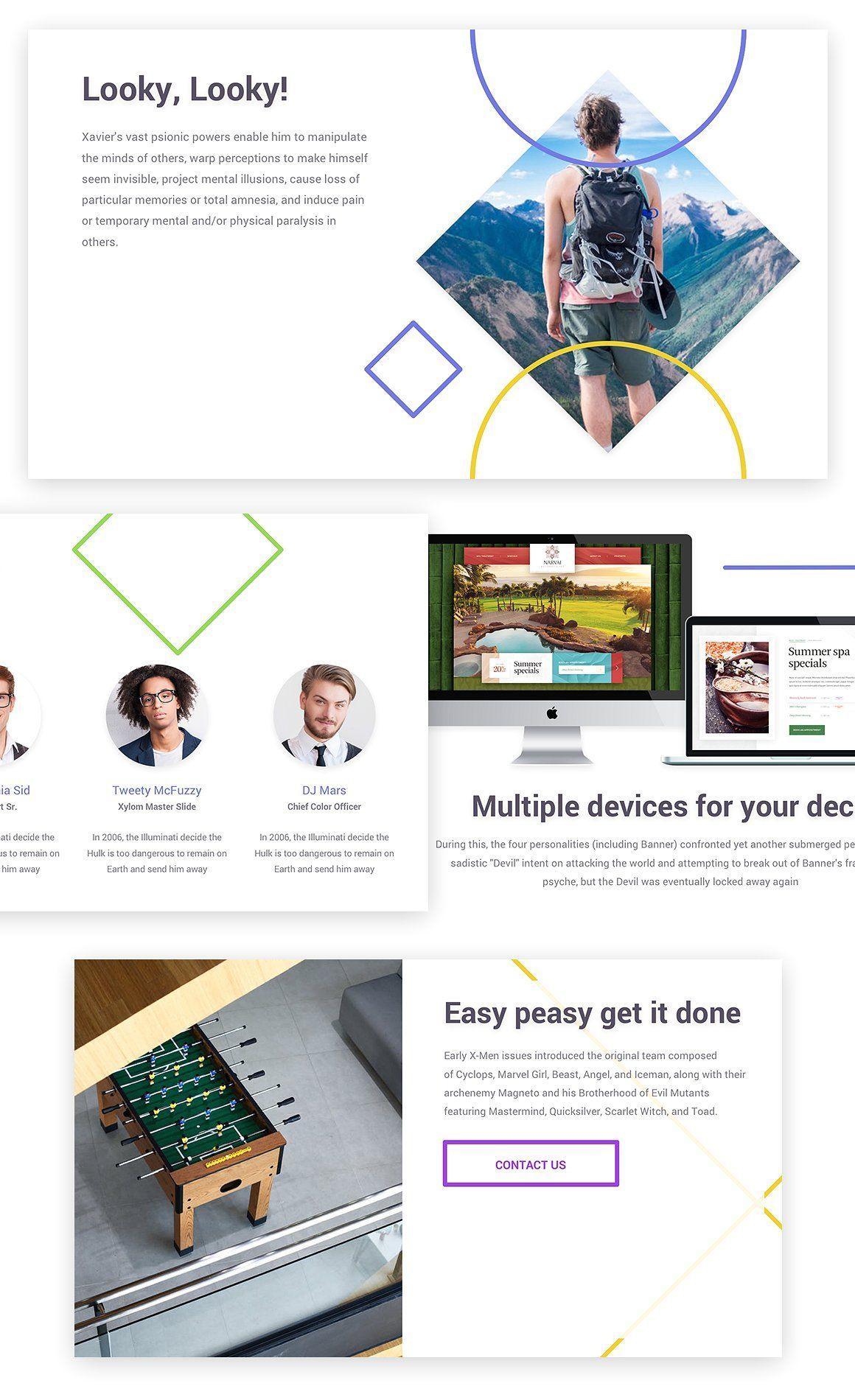 Xylom Clean PowerPoint Template headlinesbigreadable