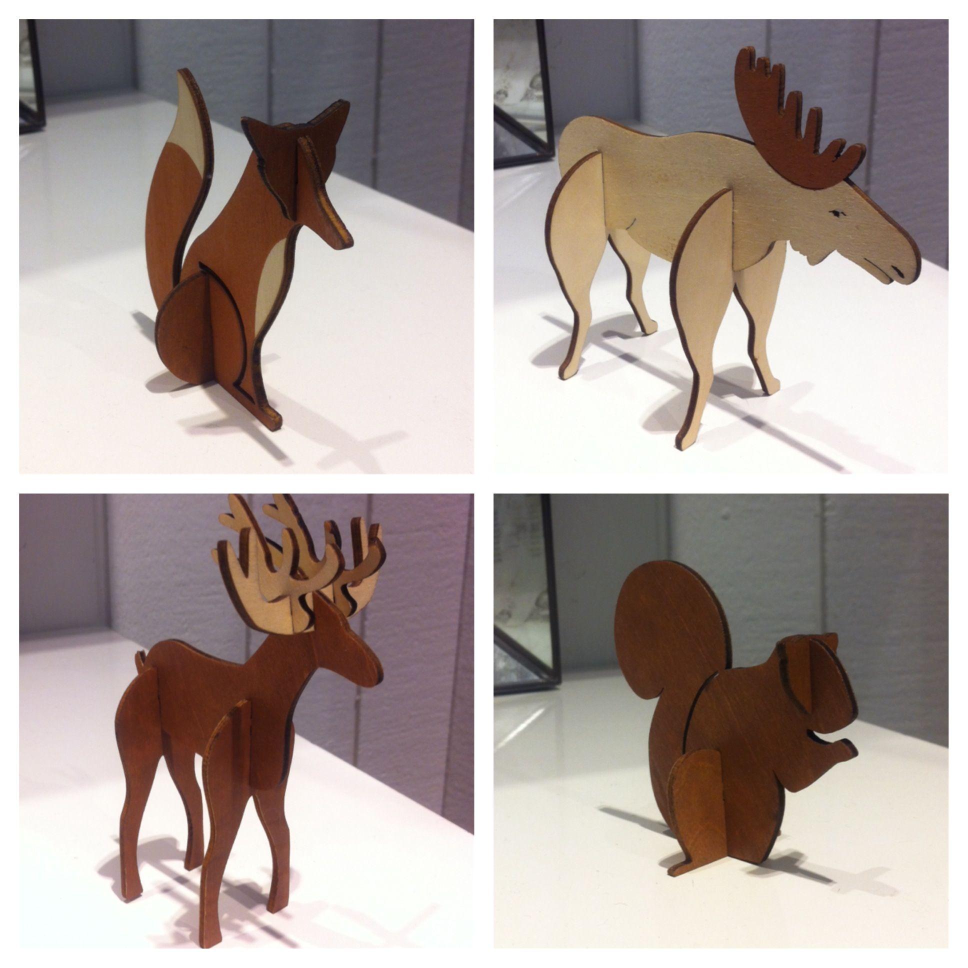 Laser Cut Animals 2d To 3d R K K Pinterest Project Ideas  # Foxy Muebles Encastrables