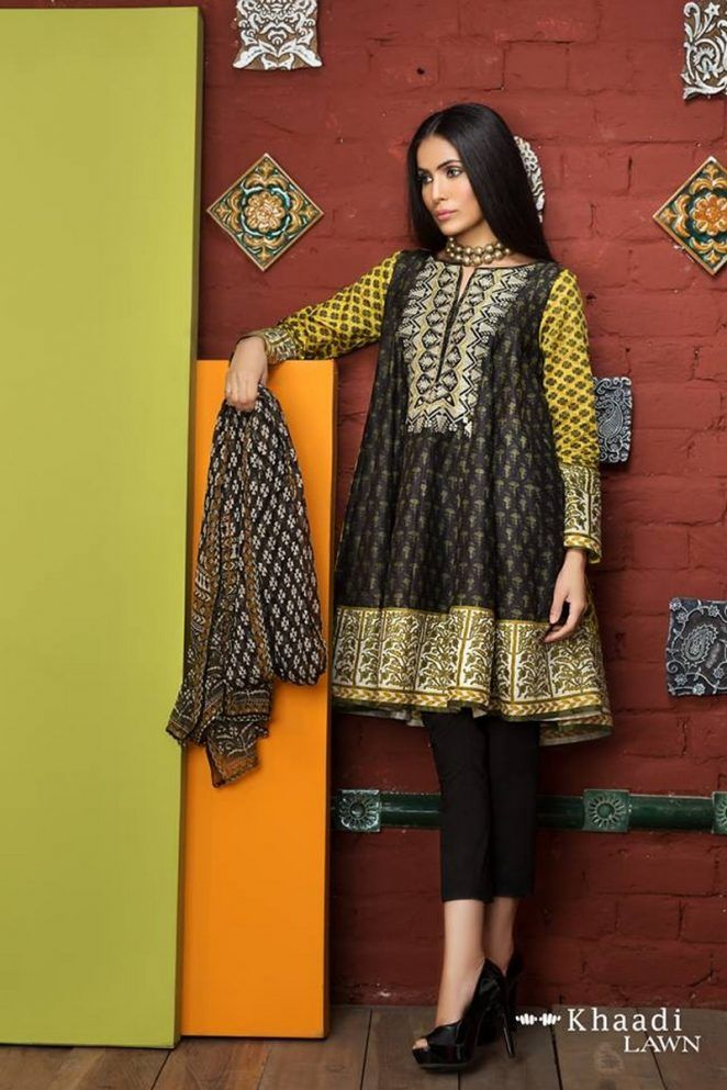 6cbb0a09ba Khaadi Embroidered Lawn Vol 1 Collection 2017 With Price | Outfits ...