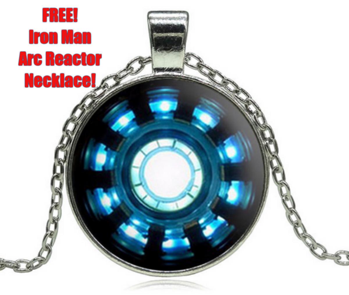 Iron Man Arc Reactor Locket Necklace Iron Man Arc Reactor Locket Pendant Jewelry Glass