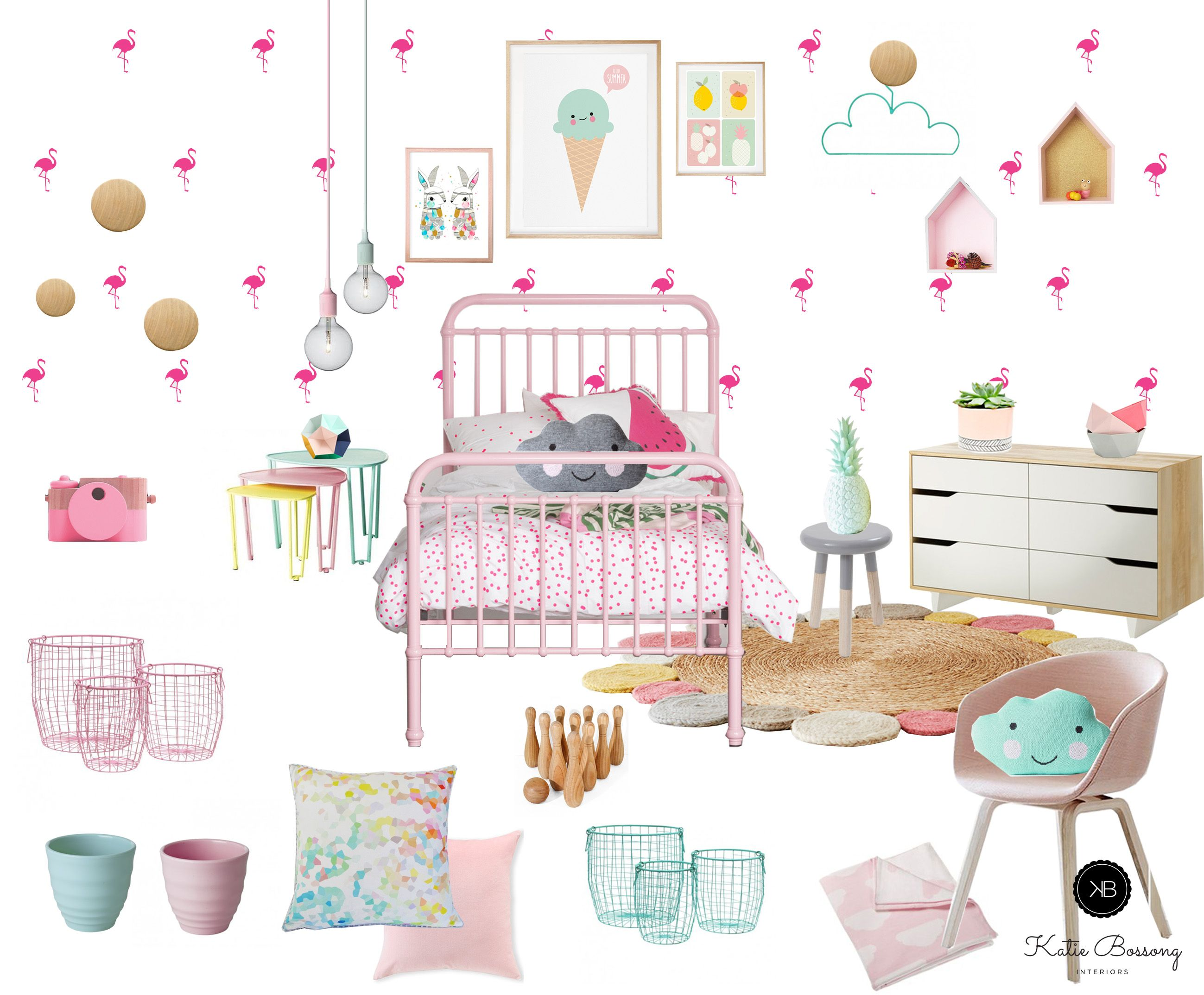 Pastel Kids Interior Bedroom Girl Room Girls Room Decor Kids Bedroom