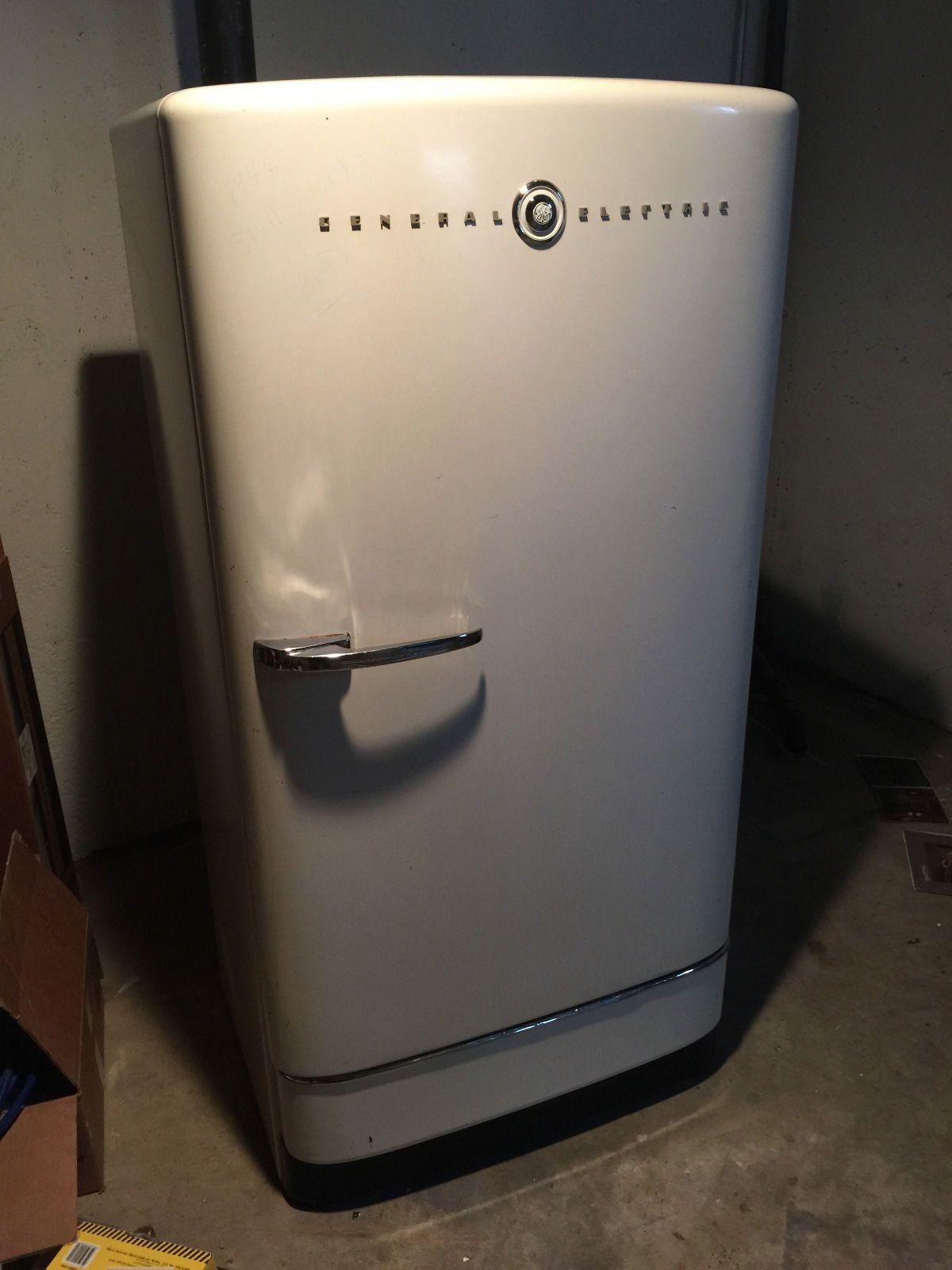 1940s GENERAL ELECTRIC FRIDGE Antique Vintage GE Refrigerator ...