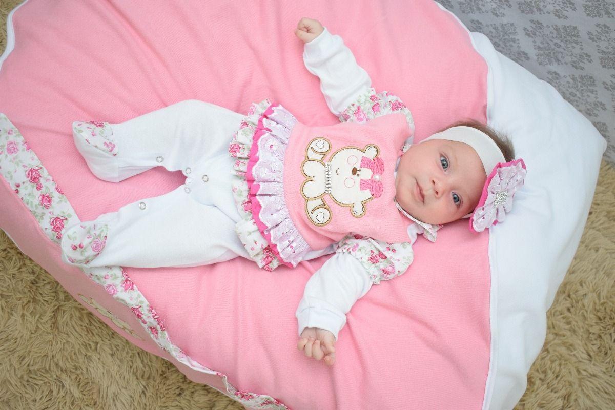 kit saida de maternidade menina rosa 04 peças - cecilia  334381b6fc9