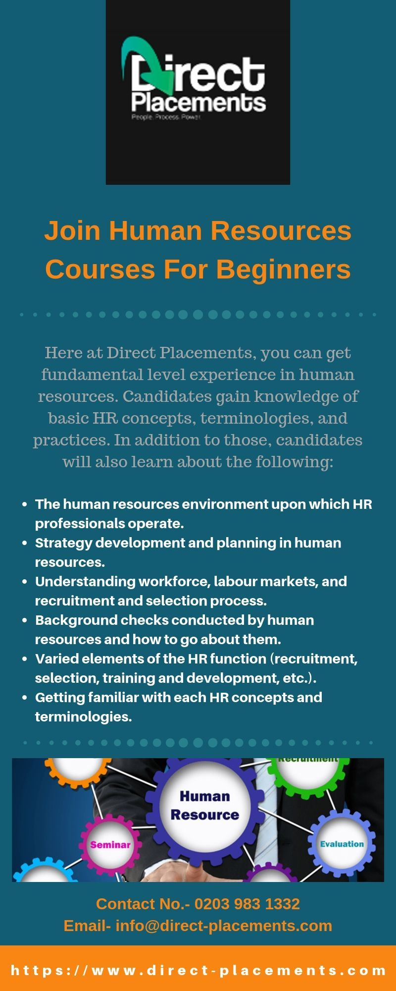 Join Human Resources Courses For Beginners Direct Placements Human Resources Work Experience Motivation Theory