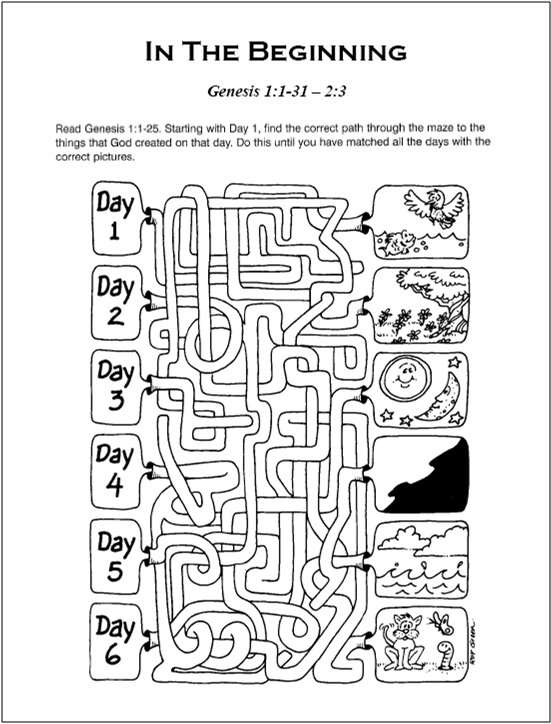 genesis chapter 1 coloring pages - photo#25