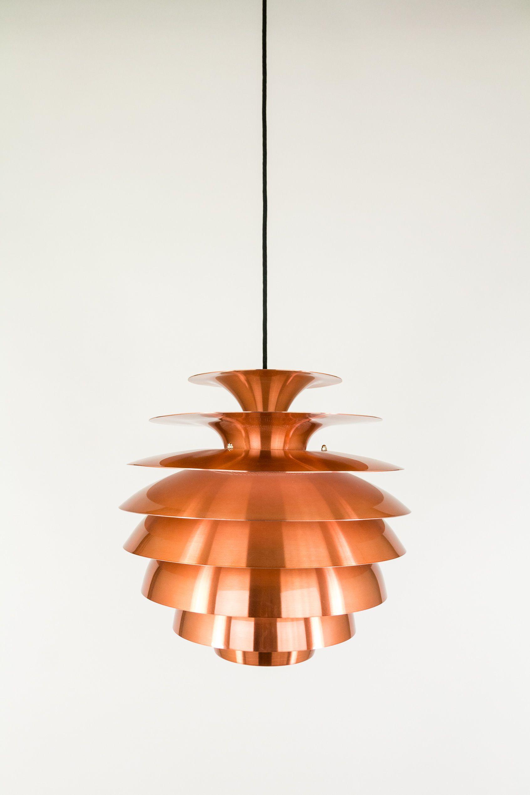 Copper Barcelona Pendant Manufactured By Danish Lighting