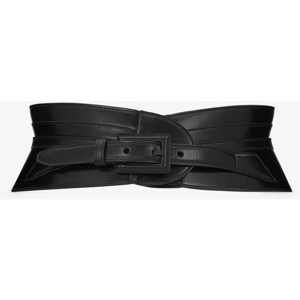 Saint Laurent Classic Corset Belt In Black Leather 20 184 730 Vnd Liked On Polyvore Featuring Accessories Belts Blac Corset Belt Leather Corset Belt Belt