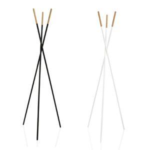 porte manteaux tr pied en m tal et bois noir ou blanc. Black Bedroom Furniture Sets. Home Design Ideas