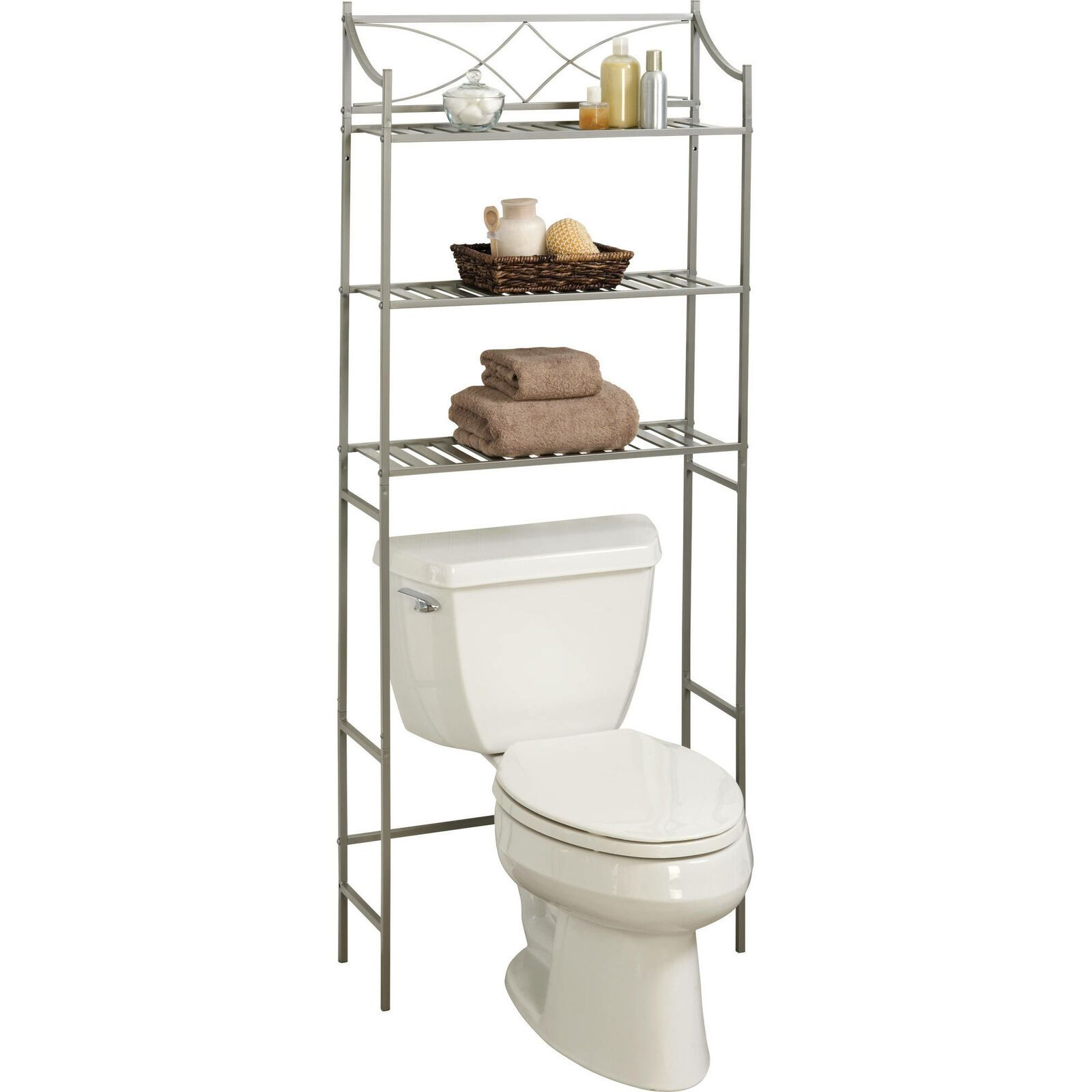 Details About Over The Toilet Bathroom Organizer 3 Shelf Space Metal Towel Storage Rack New Bathroom Organisation Bathroom Space Saver Towel Storage