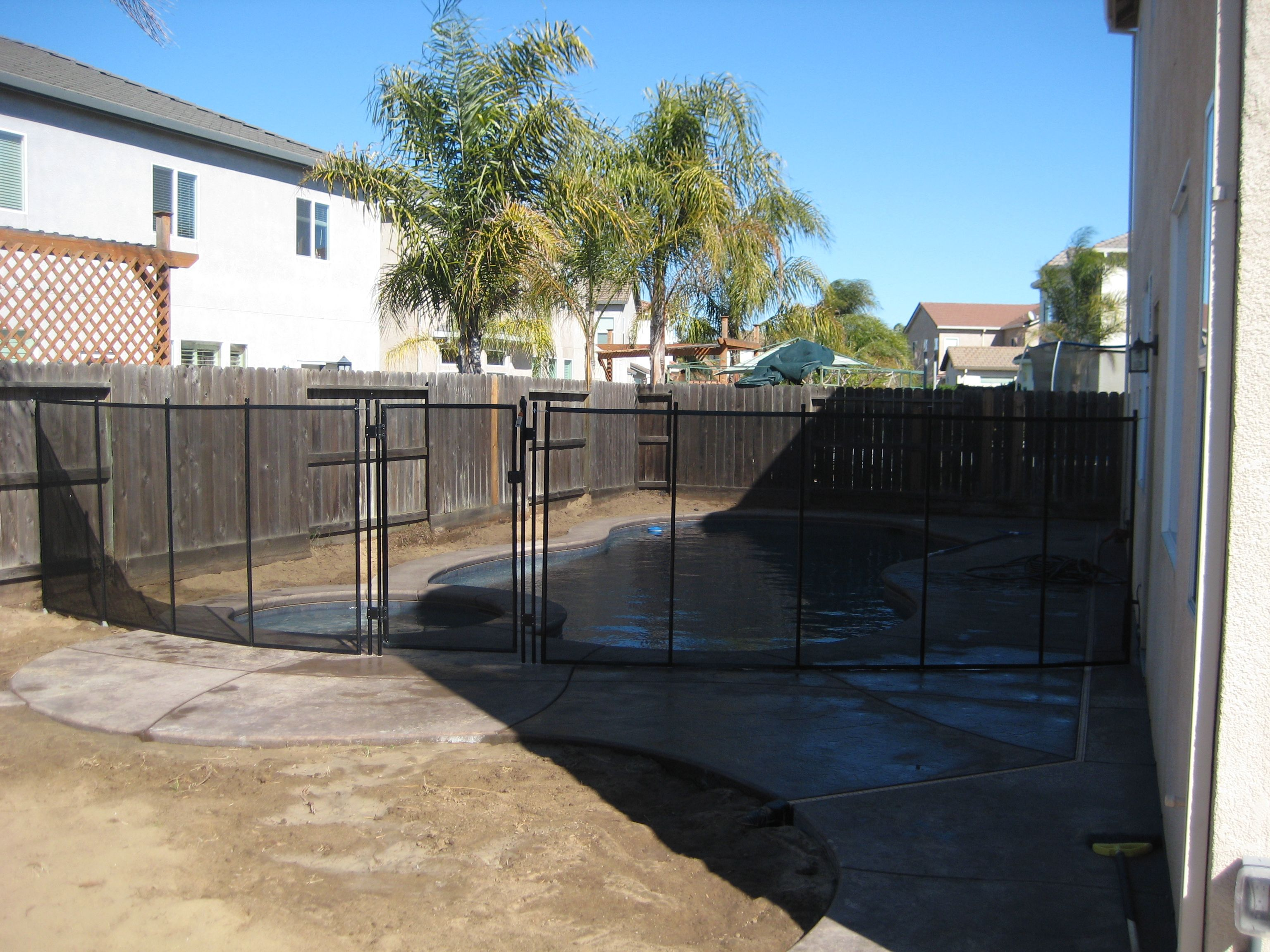 Pool Safety Fence In Stockton Ca Ca Code Compliant For