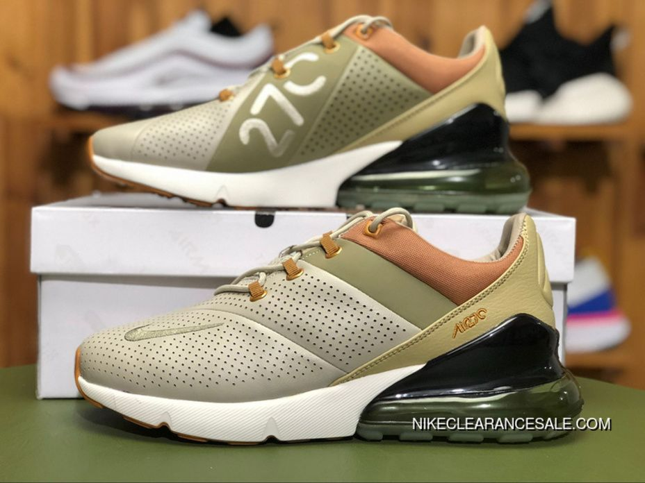 688791a8c1 Nike Air Max 270 Premium AO8283-200 Mens Air Cushion Running Shoes  String Desert Ochre-Neutral OL - Brown Super Deals