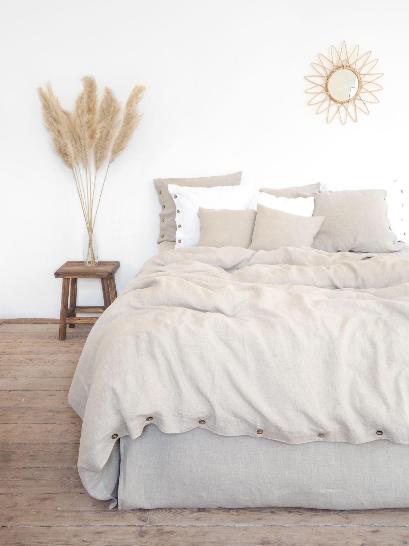 Linen Duvet Cover Super Soft Stonewashed Linen In 2020 Linen