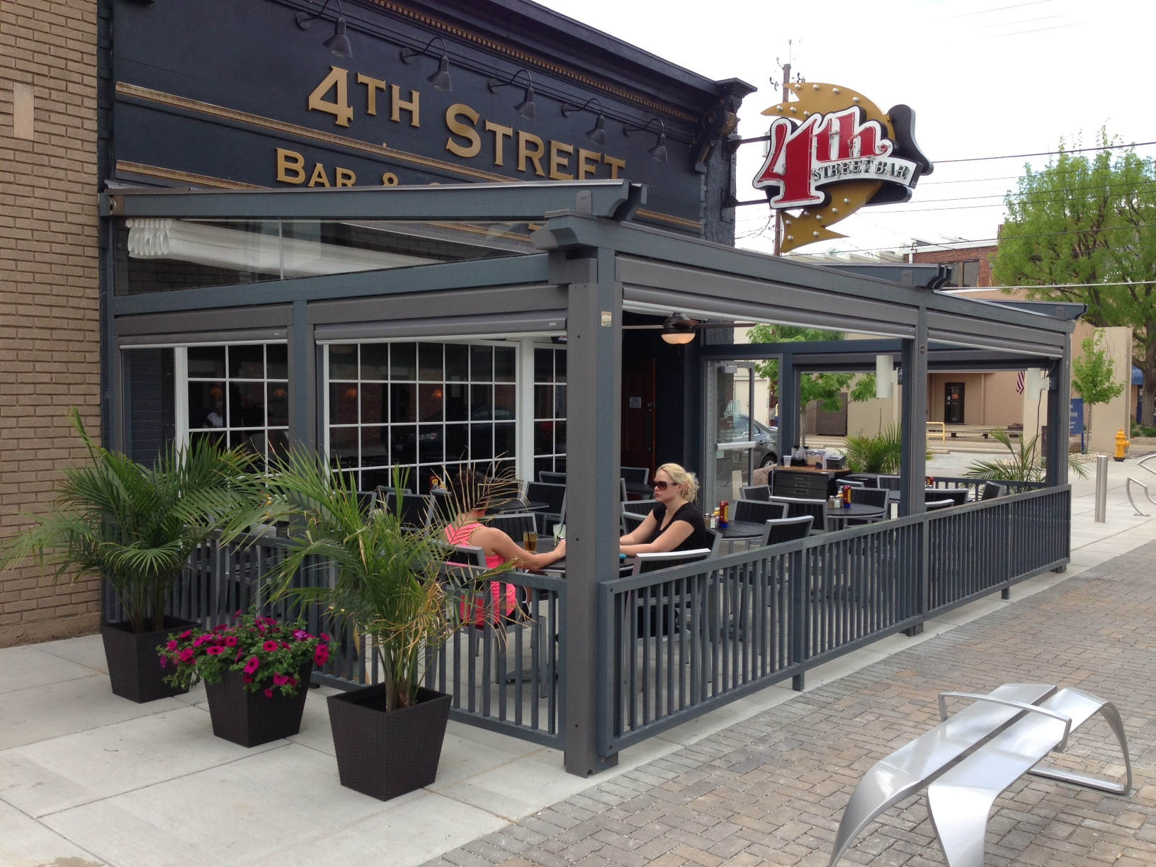 This local establishment was able to attract new customers by providing an out door environment that they can enjoy no matter if it is rain or shine.
