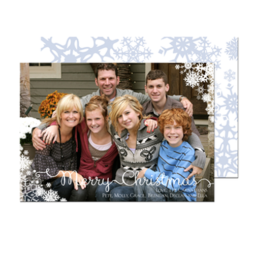 Send personalized joy through the mail with our custom holiday cards!