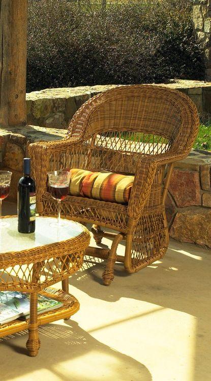 Wicker Glider Chair | Wicker Paradise