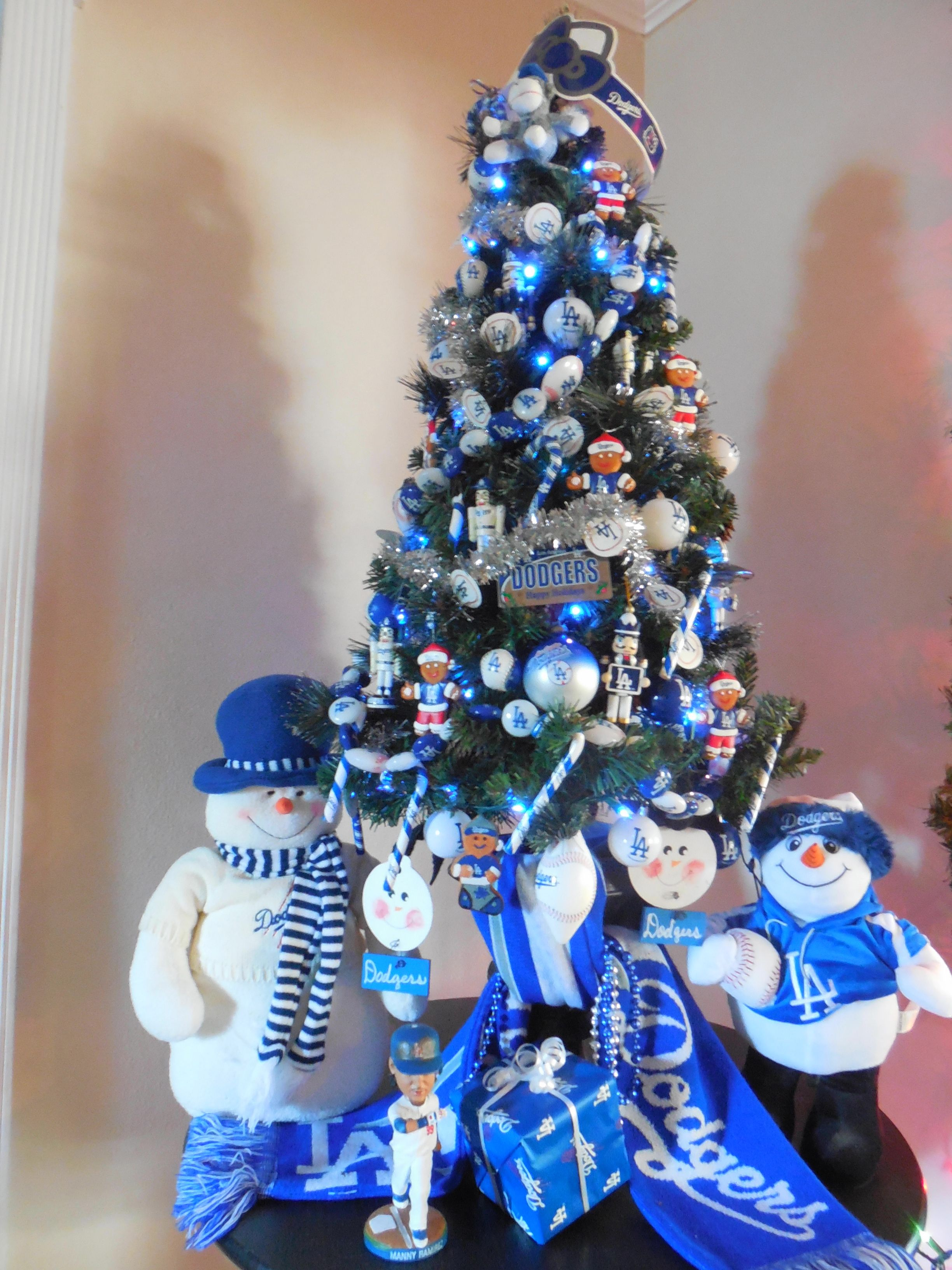 Dodger Blue Christmas Tree... | Christmas Trees and Decorations ...