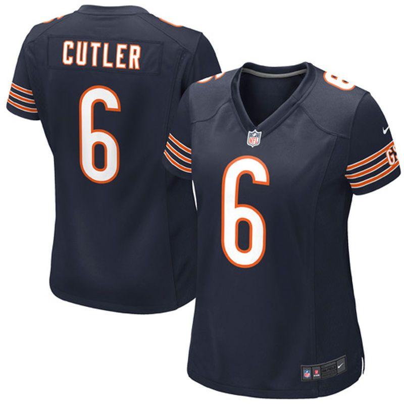 new concept d0277 8dd1c nike chicago bears jay cutler elite jersey women orange 6 ...