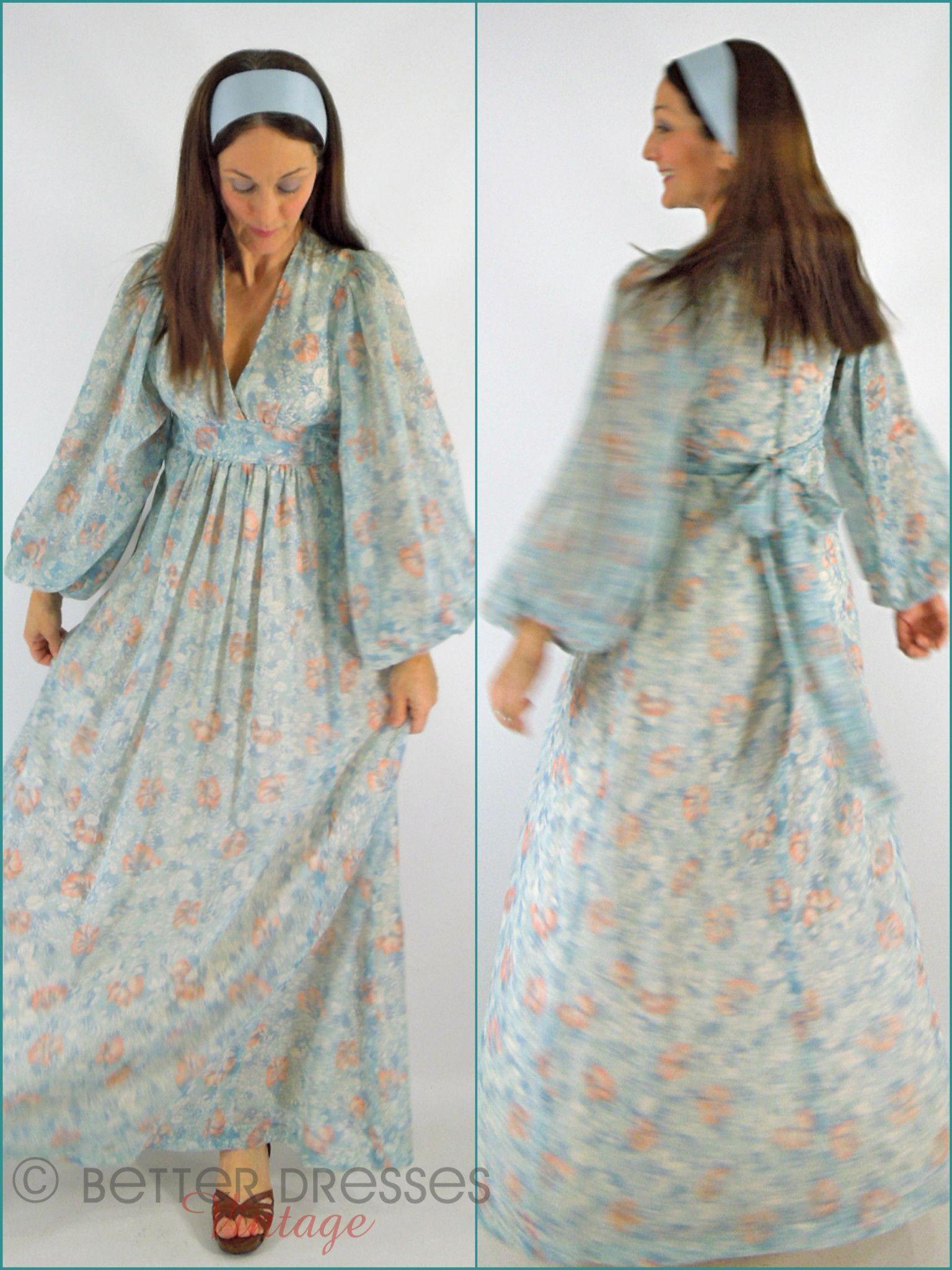 70s Boho Maxi Dress Boho Maxi Dress 70s Boho Flowy Maxi Dress [ 2048 x 1536 Pixel ]