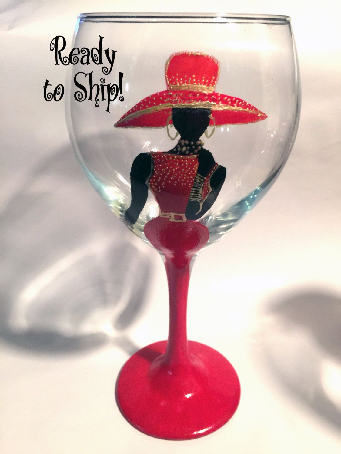 New A Fabulous Wine Glass For Dining And Entertaining Custom Hand Painted Gla Painting Glassware Hand Painted Glassware Hand Painted Wine Glasses