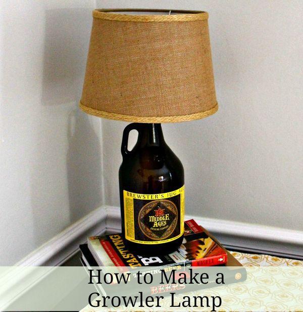 How To Make Your Own Growler Lamp Growler Decor Growler Lamp