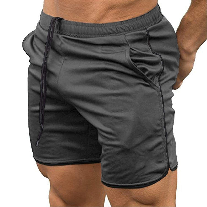 Casual Sports Running Herren Bodybuilding Fitness Shorts Turnhose Elastic Waist