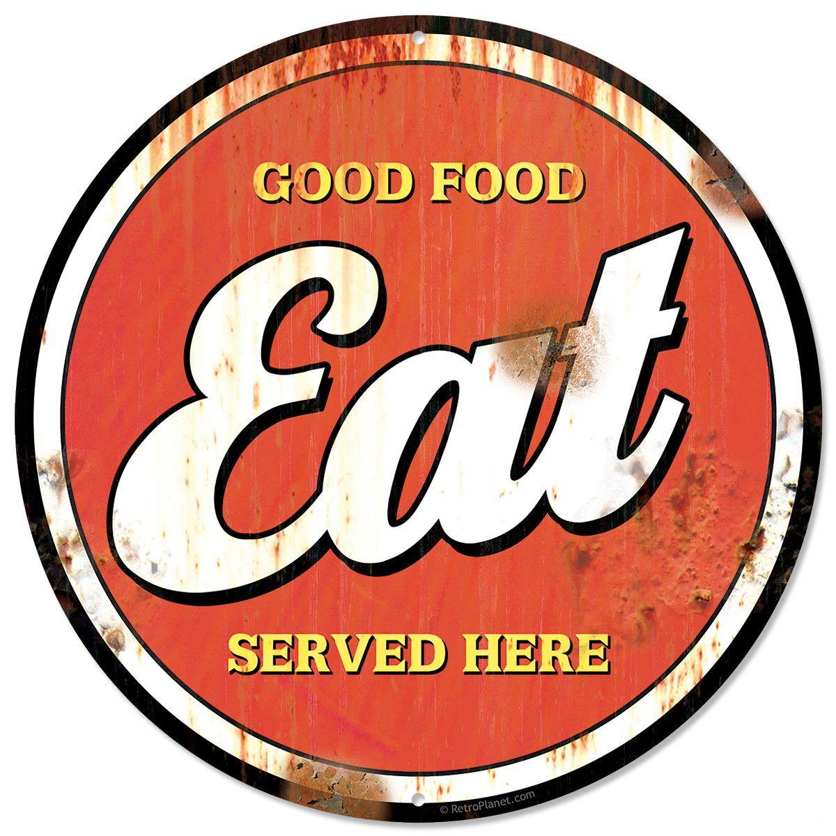 Vintage Kitchen Sign Food