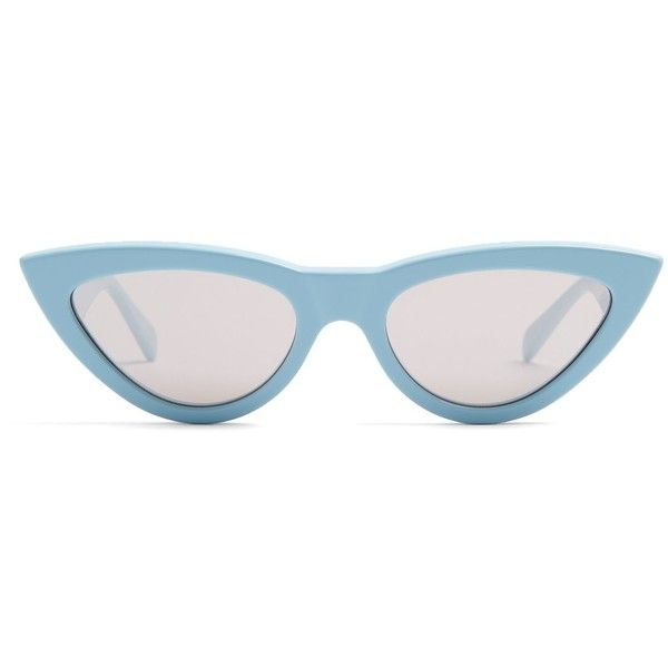 Céline Eyewear Cat-eye acetate sunglasses (3 785 SEK) ❤ liked on Polyvore  featuring accessories 0ad30af4e6876