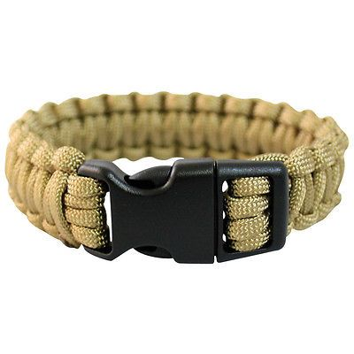 Paracord Wrist Band Tactical Bracelet Cord Hiking Emergency Survival Coyote 15 View