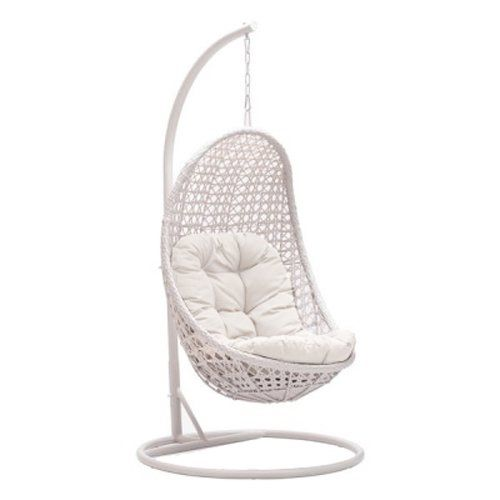 Mojo Solutions Daydreamer Wicker Patio Garden Hotel Resort Hanging Oval Swing Chair With