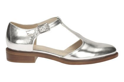 e3a3359cd30ff0 Womens Casual Shoes - Taylor Palm in Silver from Clarks shoes