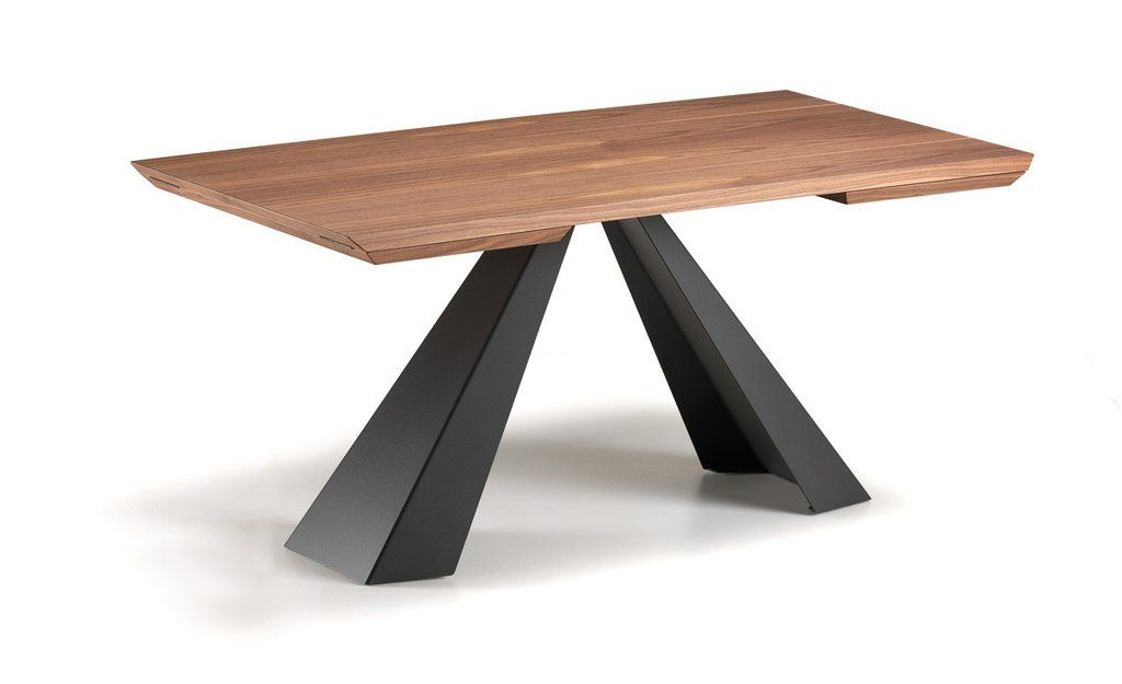Eliot Wood Extendable Dining Table Dining Table Steel Furniture