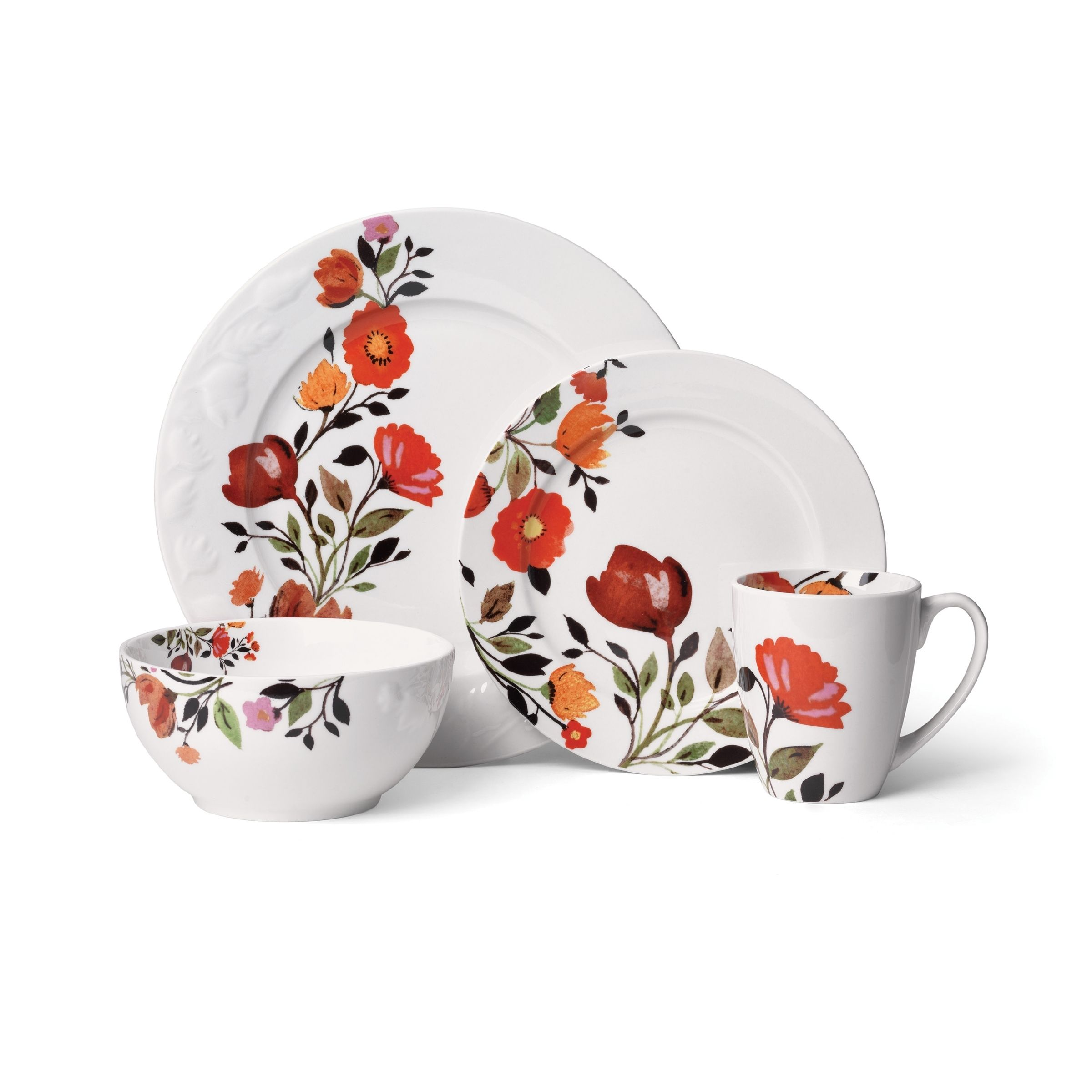 Gourmet Basics by Mikasa Tulips 16-Piece Dinnerware Set (Gourmet Basics Tulips 16 Piece Dinnerware Set) Gold (Porcelain Floral)  sc 1 st  Pinterest & Gourmet Basics by Mikasa Tulips 16-Piece Dinnerware Set (Gourmet ...