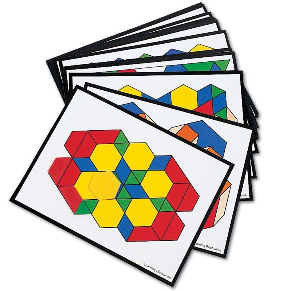 Learning Resources Pattern Block Design Cards Ler0264 Pattern