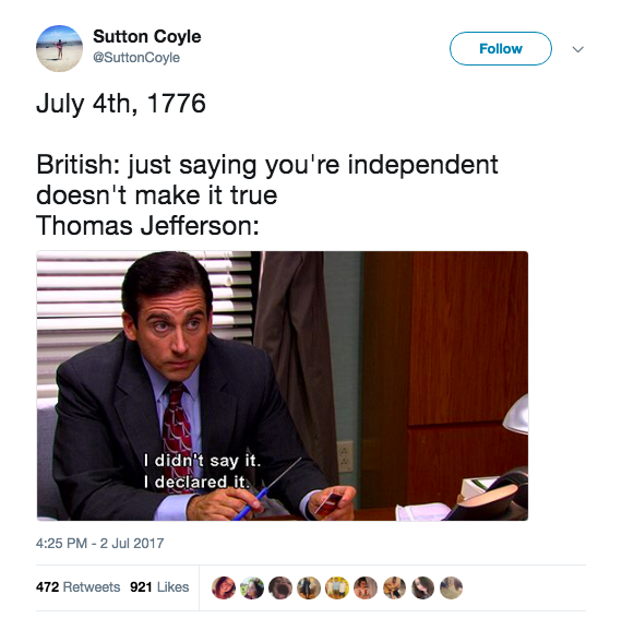 Friendly Reminder This 4th Of July That No One Wants To Watch 200 Second Snap Stories Of The Firework Display You History Jokes Just For Laughs History Memes