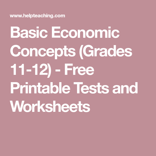 graphic about Free Printable Economics Worksheets referred to as Simple Money Tips (Grades 11-12) - Cost-free Printable