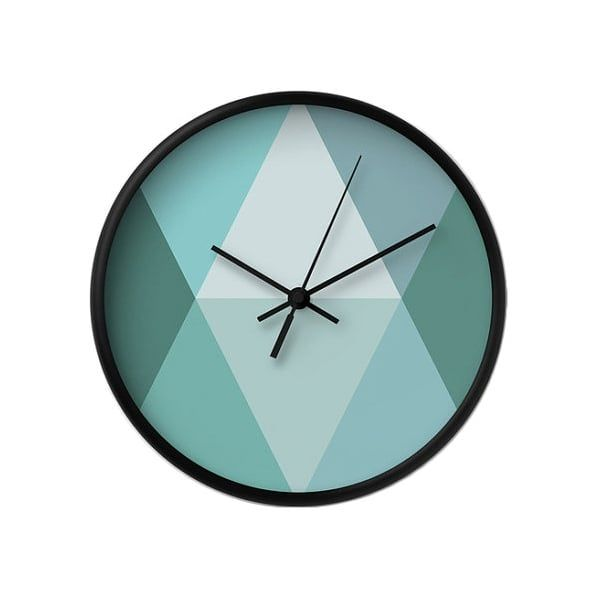 Cult Living Geometrische Dreieck Uhr - Türkis - Cult Living von Cult - wanduhr für küche