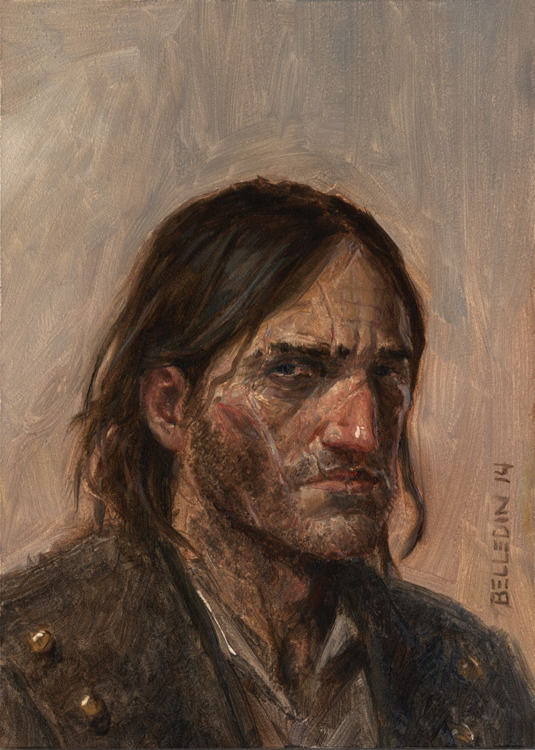 Logen Ninefingers From Joe Abercrombie's, The First Law Trilogy Artist:  Steven Belledin,