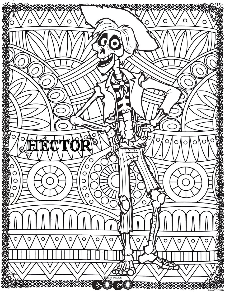 Coco Hector Return To Childhood Coloring Pages For Adults