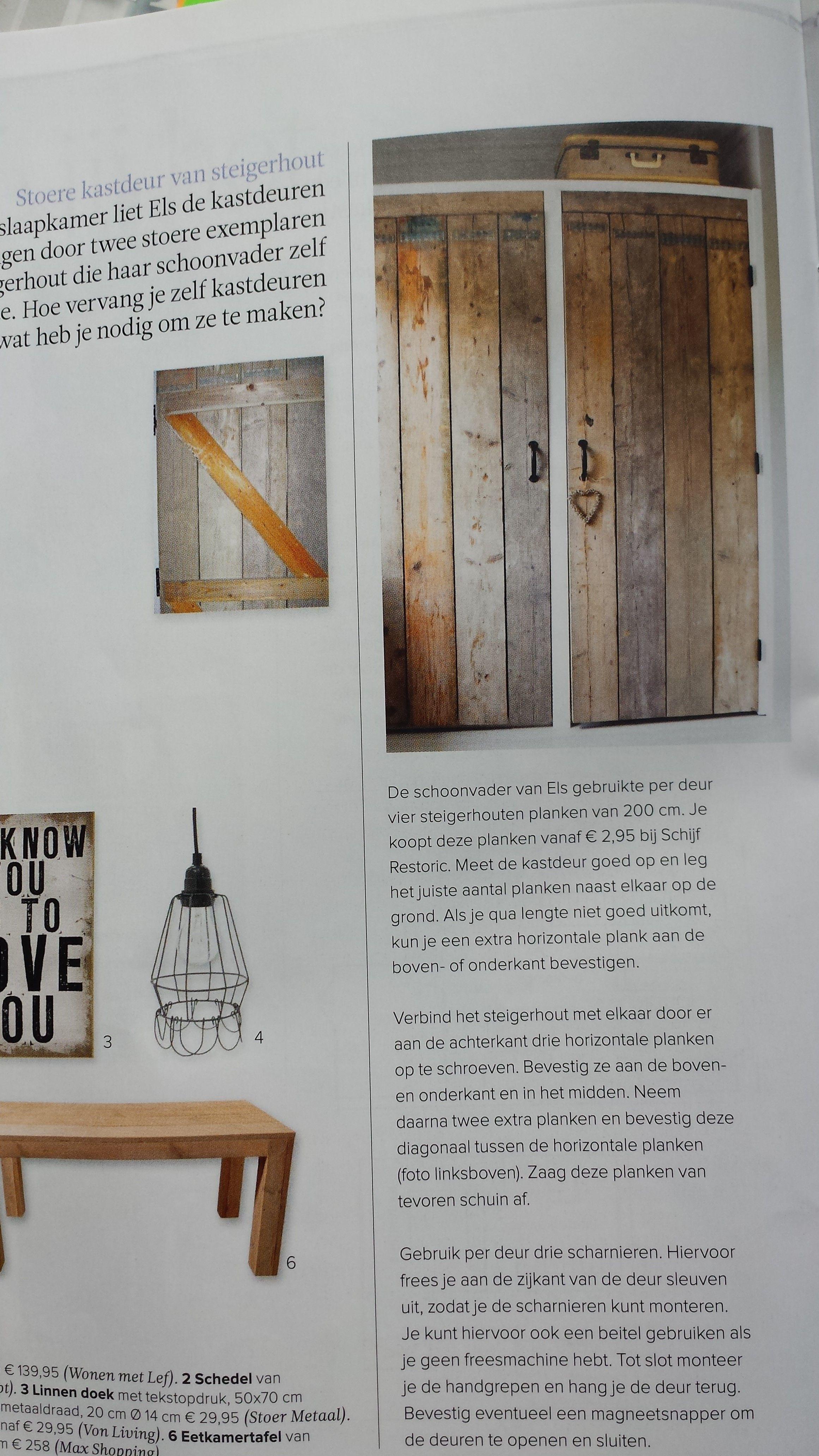 Zelf Kastdeuren Maken Van Gebruikte Houten Planken Puur