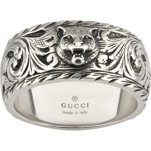 c99a89ca73bae GUCCI Gatto sterling silver ring (775 BRL) ❤ liked on Polyvore featuring  jewelry